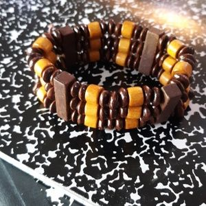 Jewelry - Handcrafted, wooden beaded cuff